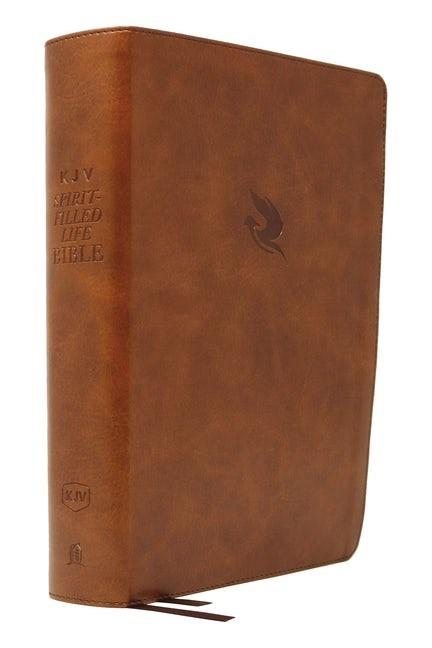 KJV Spirit-Filled Life Bible, Brown, Red Letter (Genuine Leather)