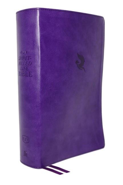 KJV Spirit-Filled Life Bible, Purple, Red Letter (Genuine Leather)