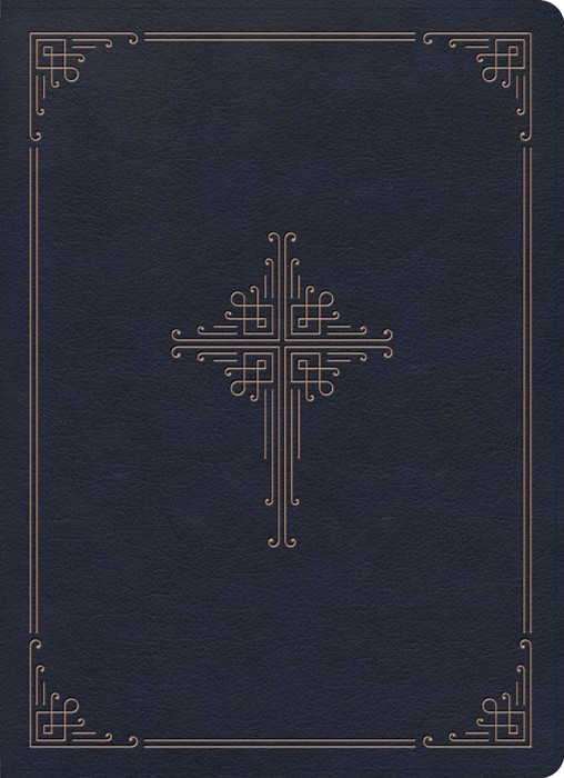 CSB Ancient Faith Study Bible, Navy LeatherTouch, Indexed (Imitation Leather)