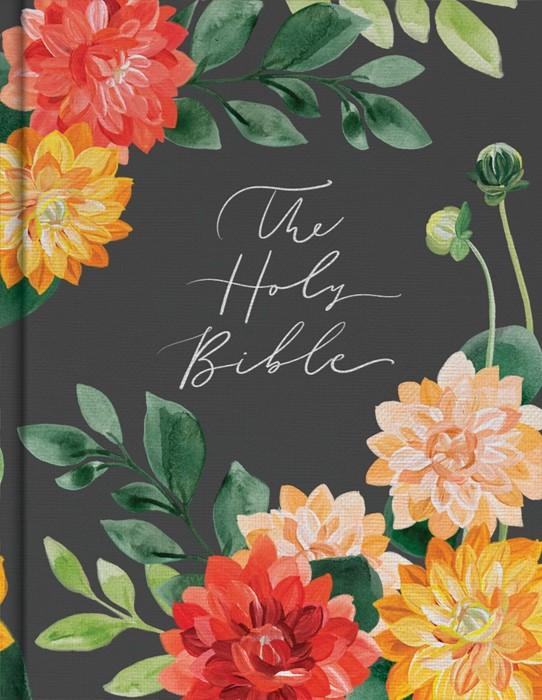 CSB Notetaking Bible, Hosanna Revival Edition, Dahlias (Hard Cover)
