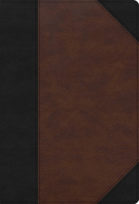 CSB Super Giant Print Reference Bible, Black/Brown (Imitation Leather)
