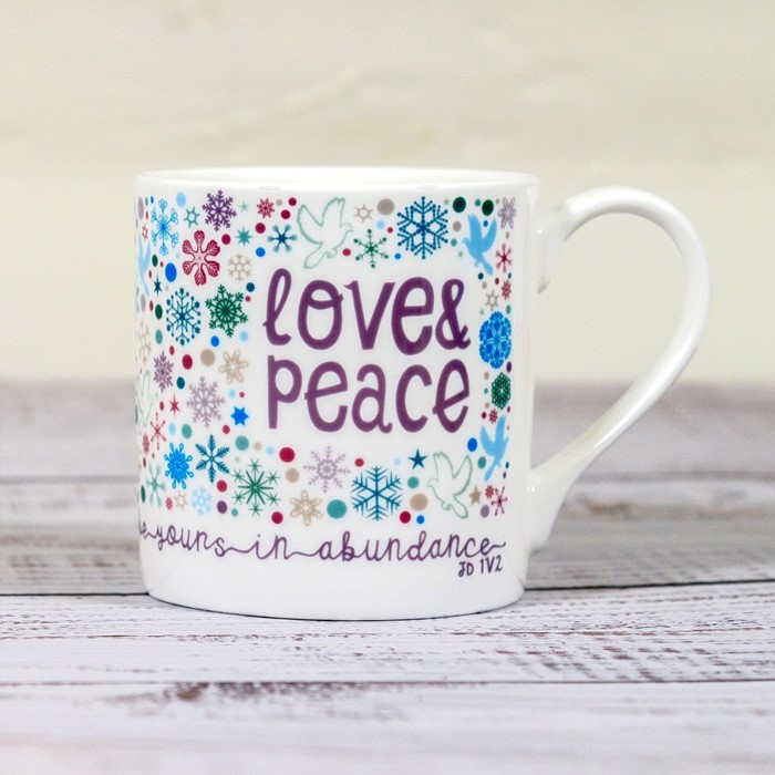 Love and Peace Christmas Mug (General Merchandise)