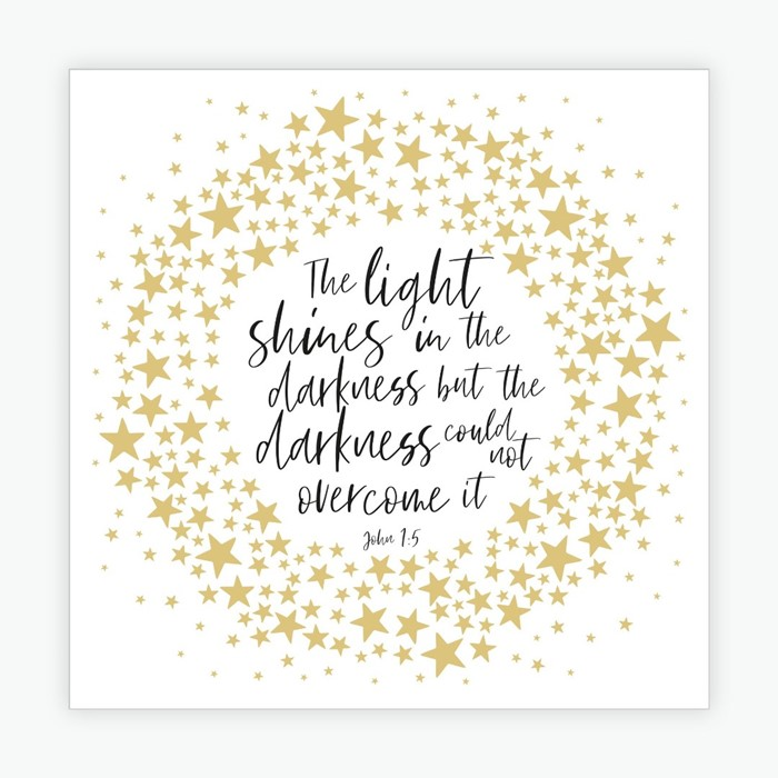Light Shines in the Darkness Christmas Cards (pack of 10) (Cards)