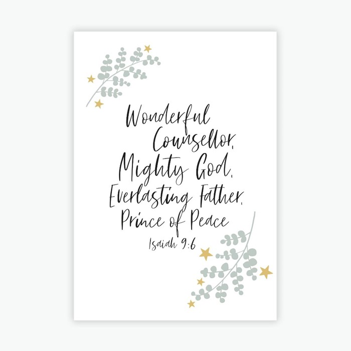 Wonderful Counsellor A6 Christmas Cards (pack of 10) (Cards)