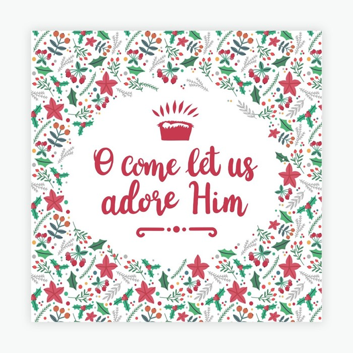 O Come Let Us Adore Him Christmas Cards (pack of 10) (Cards)