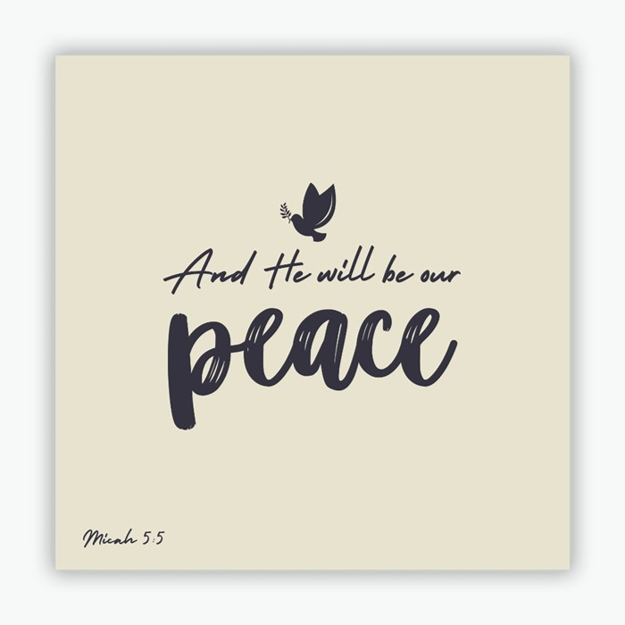 He Will Be Our Peace (white) Christmas Cards (pack of 10) (Cards)