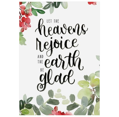 Let the Heavens Rejoice Christmas Cards (pack of 6) (Cards)
