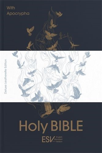 ESV Holy Bible with Apocrypha, Anglicized Edition, Blue (Hard Cover)