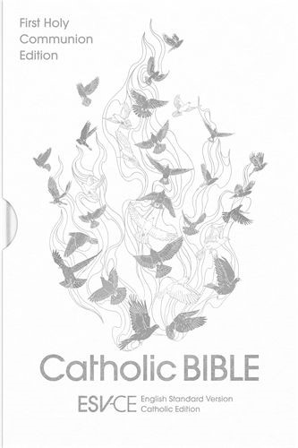ESV-CE Catholic Bible, Anglicized First Communion Edition (Hard Cover)