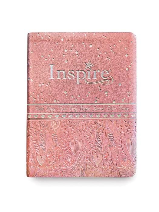 NLT Inspire Bible for Girls (LeatherLike, Pink) (Imitation Leather)