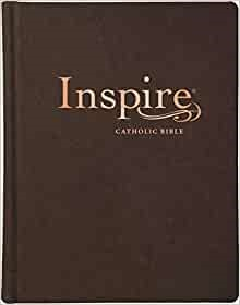 NLT Inspire Catholic Bible (LeatherLike, Dark Brown) (Imitation Leather)