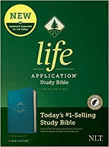 NLT Life Application Study Bible, Third Edition, Teal Blue (Imitation Leather)
