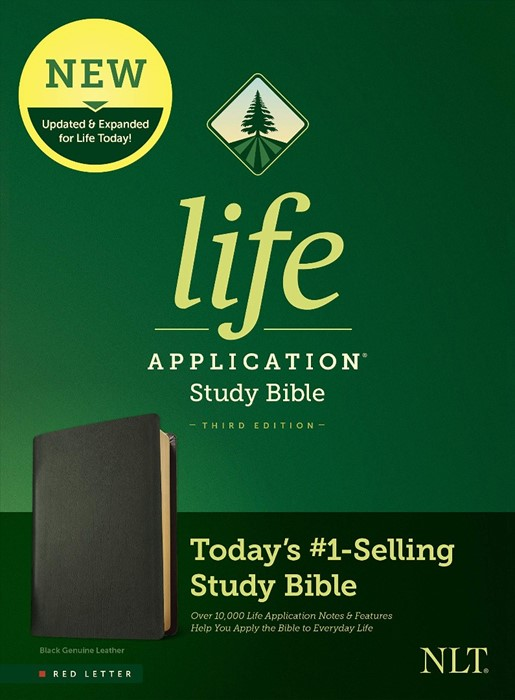 NLT Life Application Study Bible, Third Edition, Black (Genuine Leather)