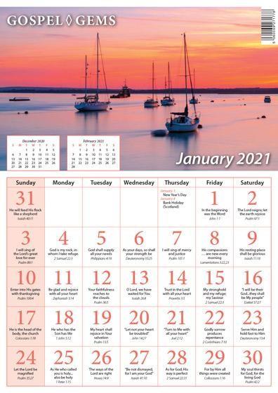 Gospel Gems Calendar 2021 (Calendar)
