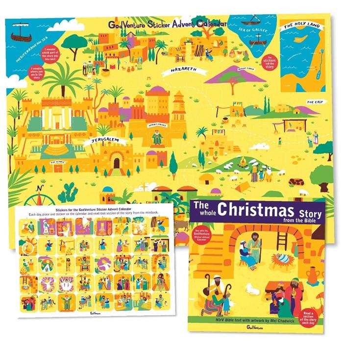 GodVenture Sticker Advent Calendar (Calendar)