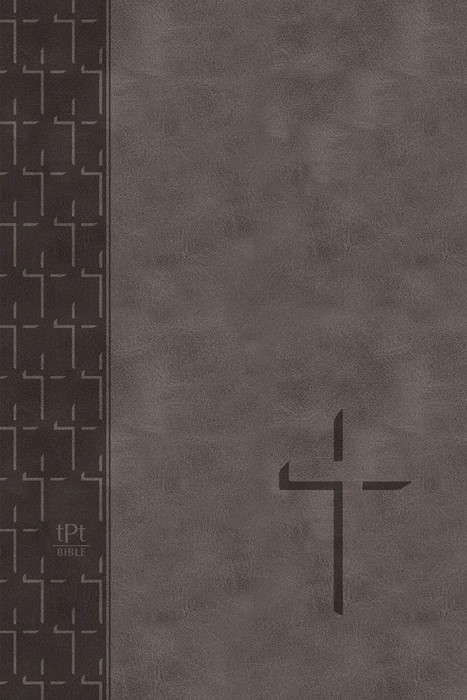 TPT Large Print New Testament, Grey (Imitation Leather)