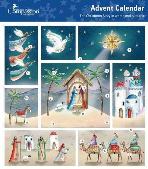 Christmas Scene Advent Calendar (Calendar)