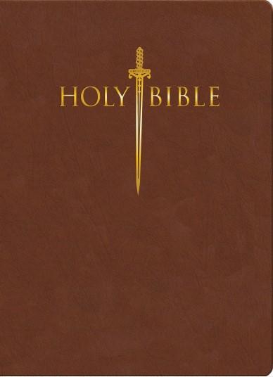 KJV Sword Study Bible, Giant Print, Indexed, Acorn (Bonded Leather)