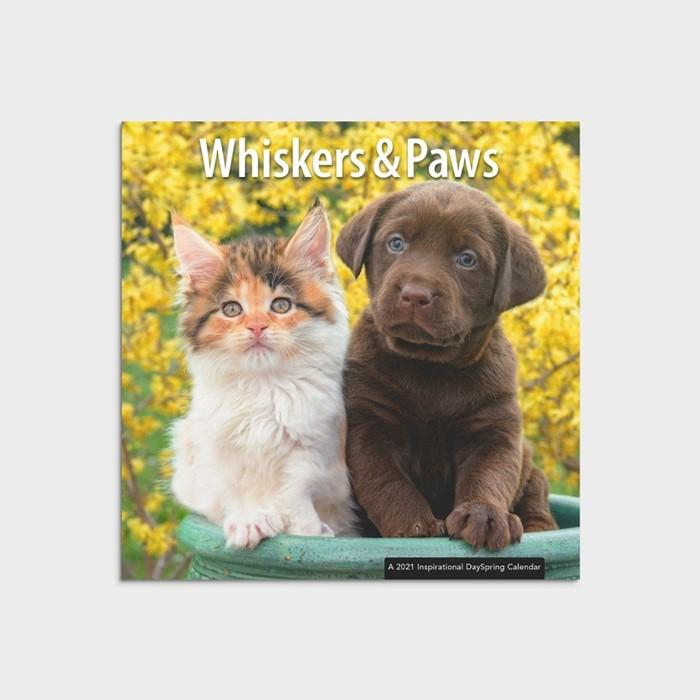 2021 Calendar Whiskers & Paws (Calendar)