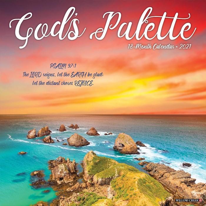 God's Palette 18-month 2021 Calendar (Calendar)