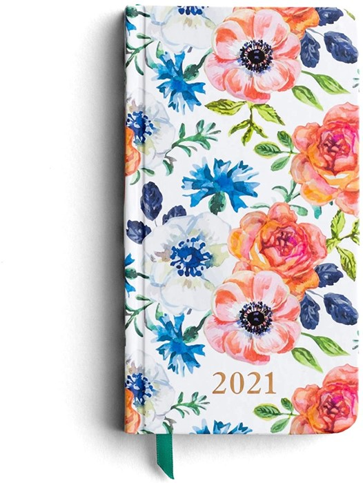 2021 Floral Premium Pocket Planner (Hard Cover)