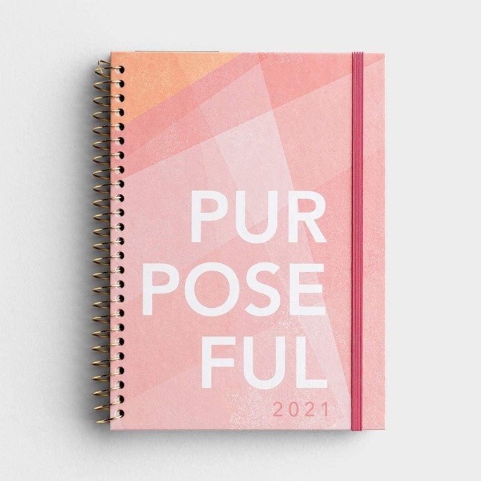2021 Week To View Planner: Purposeful (Spiral Bound)