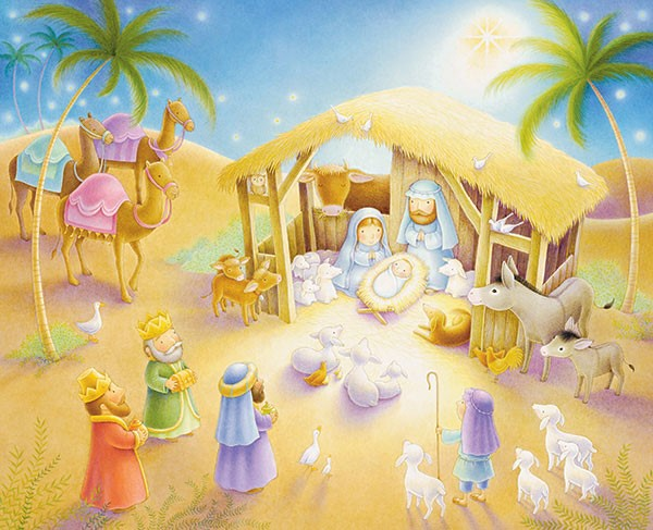 Advent Calendar: Nativity Scene with Puzzles (Calendar)