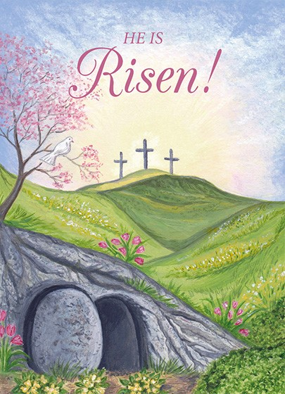 Easter Mini Cards: He Is Risen (Pack of 4) (Cards)