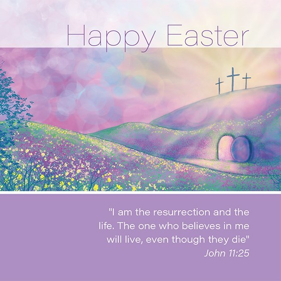 Easter Cards: Happy Easter (Cross) (Pack of 5) (Cards)