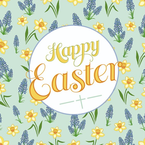 Easter Cards: Happy Easter (Flower) (Pack of 5) (Cards)