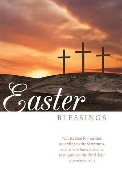 Easter Cards: Easter Blessings (Calvary) (Pack of 5) (Cards)