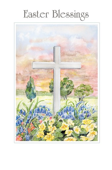 Easter Cards: Easter Blessings (Cross) (Pack of 5) (Cards)