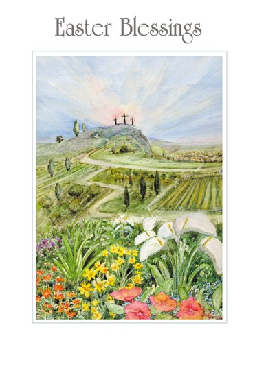 Easter Cards: Easter Blessings (Calvary Fields) (Pack of 5) (Cards)