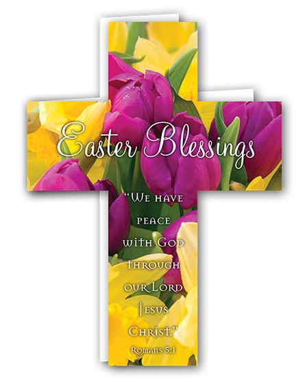 Easter Mini Crosses: Easter Blessings (Tulips) (Pack of 4) (Cards)