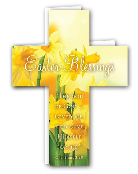 Easter Mini Crosses: Easter Blessings Daffodils (Pack of 4) (Cards)
