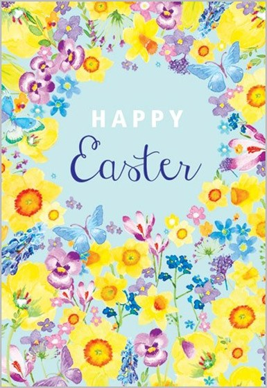 Easter Cards: Happy Easter (Flowers) (Pack of 5) (Cards)