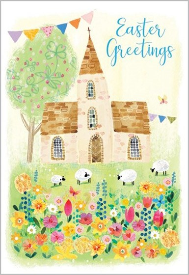 Easter Cards: Easter Greetings (Church) (Pack of 5) (Cards)