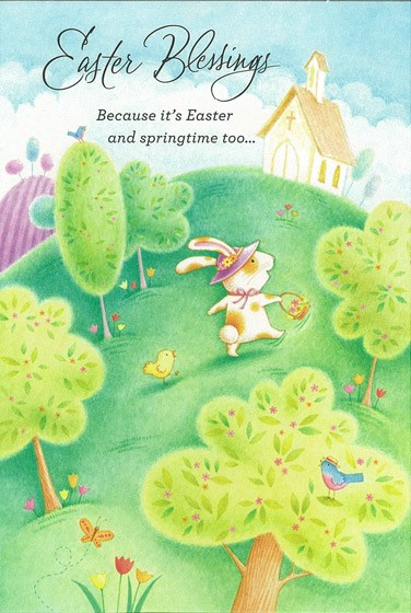 Easter Cards: Easter Blessings (Rabbit) (Pack of 6) (Cards)
