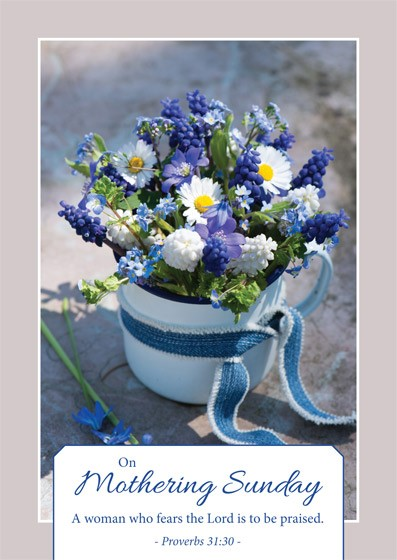On Mothering Sunday - Postcard Blue (Pack of 24) (Postcard)