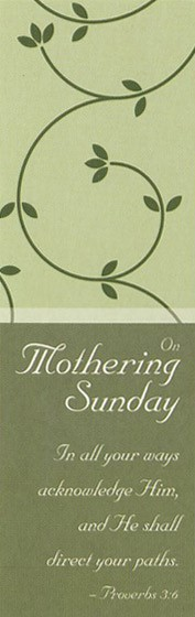 On Mothering Sunday - Bookmarks - Pattern (Pack of 36) (Bookmark)