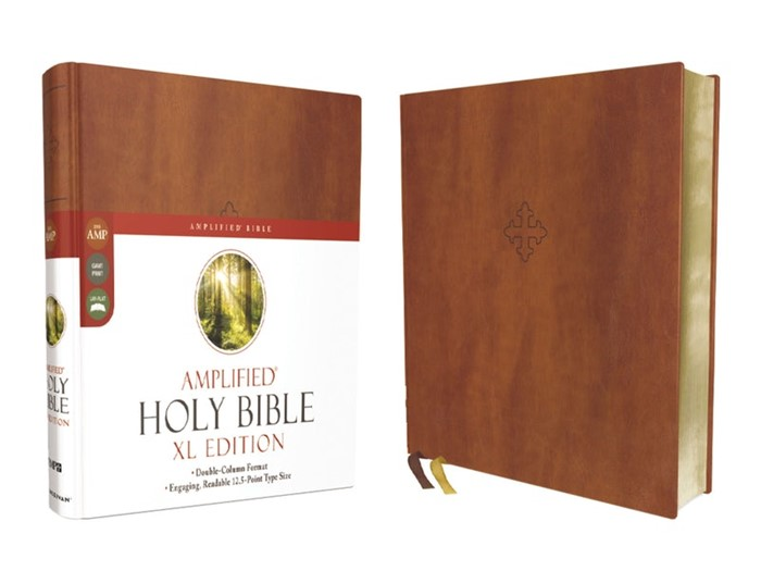 Amplified Holy Bible, XL Edition, Leathersoft, Brown (Leather Binding)