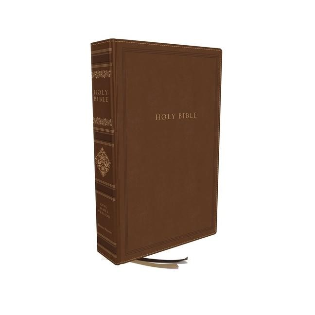 KJV Personal Size Reference Bible, Leathersoft Brown (Hard Cover)