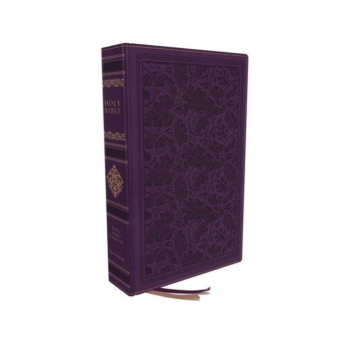 KJV Personal Size Reference Bible Leathersoft Purple (Hard Cover)