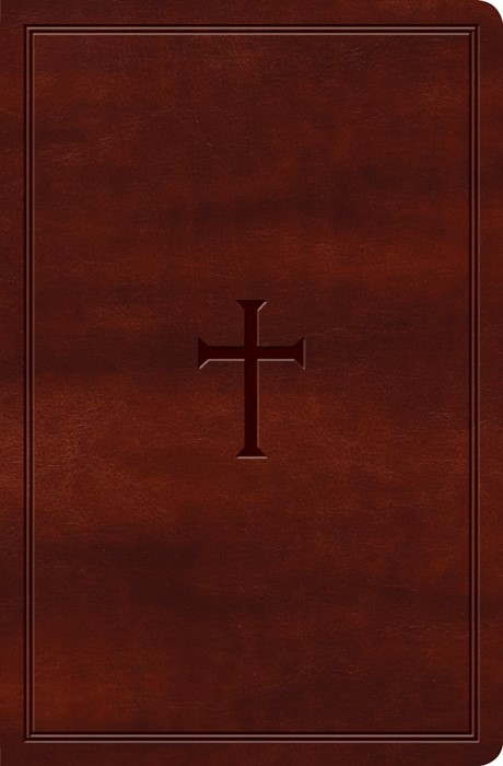 KJV Large Print Personal Size Reference Bible Brown, Indexed (Imitation Leather)