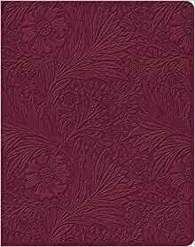 ESV Single Column Journaling Bible (TruTone, Raspberry, Flor (Imitation Leather)