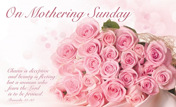 On Mothering Sunday - Postcard Roses (Pack of 24) (Postcard)