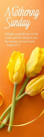 On Mothering Sunday - Bookmarks - Flowers (Pack of 36) (Bookmark)