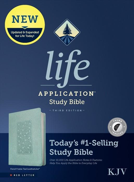 KJV Life Application Study Bible, Third Edition, Floral (Imitation Leather)