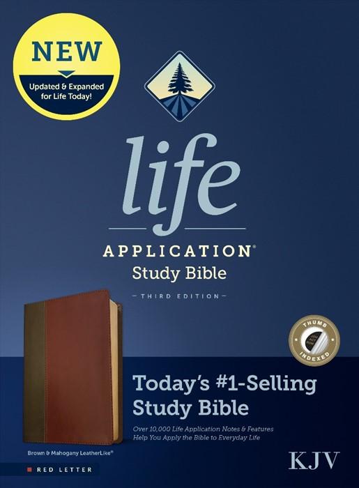 KJV Life Application Study Bible, Third Edition, Brown (Imitation Leather)