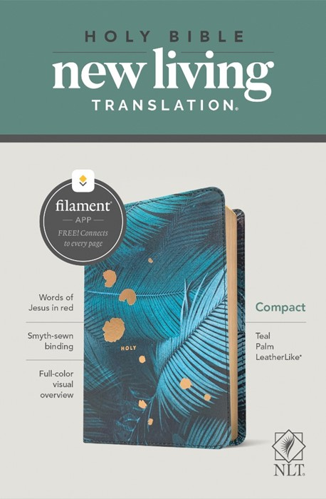 NLT Compact Bible, Filament Enabled Edition, Teal Palm (Imitation Leather)